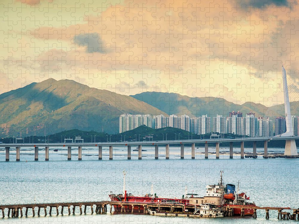 Outdoors Puzzle featuring the photograph Good Morning Shenzhen & Hong Kong by Capturing A Second In Life, Copyright Leonardo Correa Luna