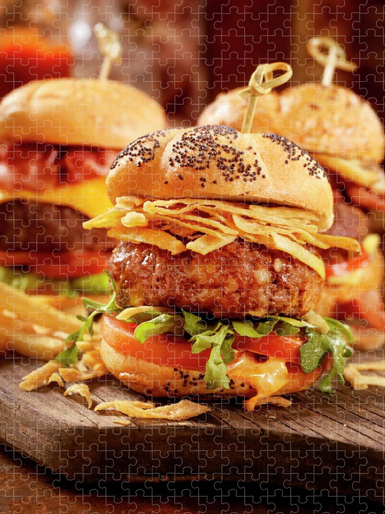 Stout Puzzle featuring the photograph Gourmet Sliders by Lauripatterson