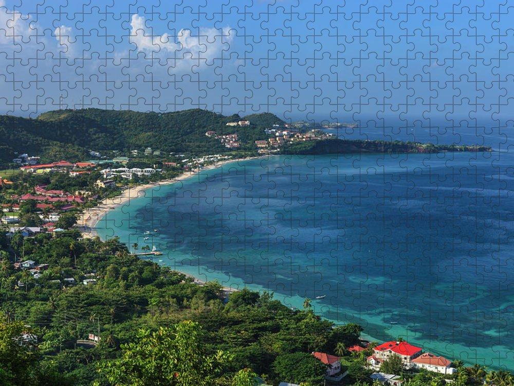 Scenics Puzzle featuring the photograph Grand Anse Bay, Grenada by Flavio Vallenari