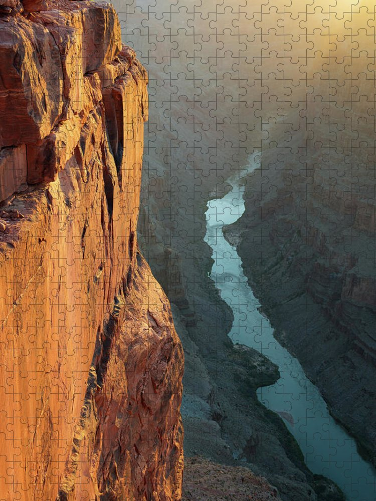 Scenics Puzzle featuring the photograph Grand Canyon Toroweap Point Morning by Kjschoen