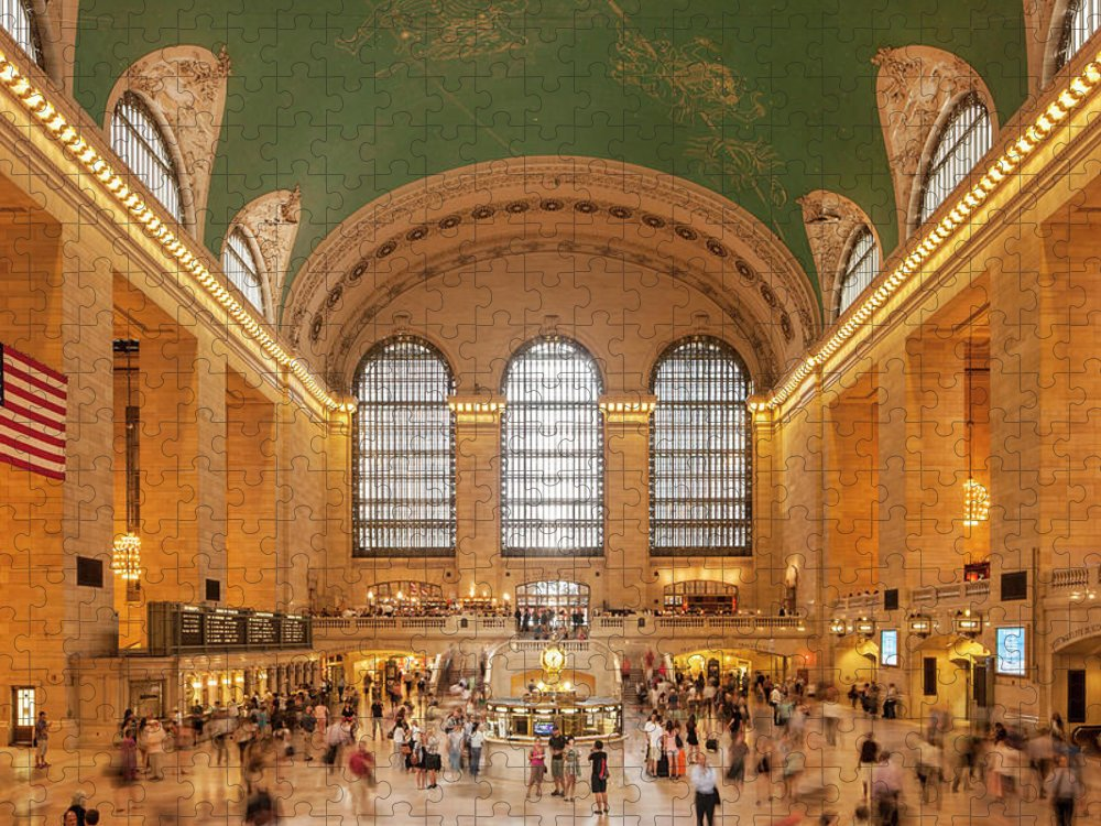 Arch Puzzle featuring the photograph Grand Central Station, 42nd Street, New by David Clapp