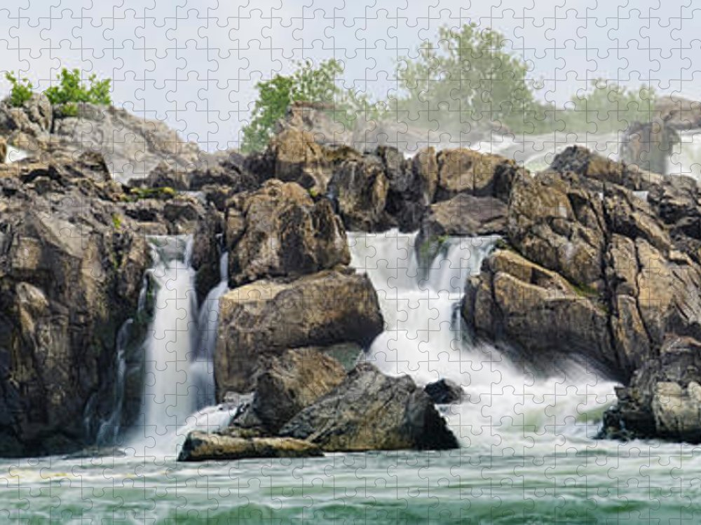Scenics Puzzle featuring the photograph Great Falls Panoramic by Ogphoto