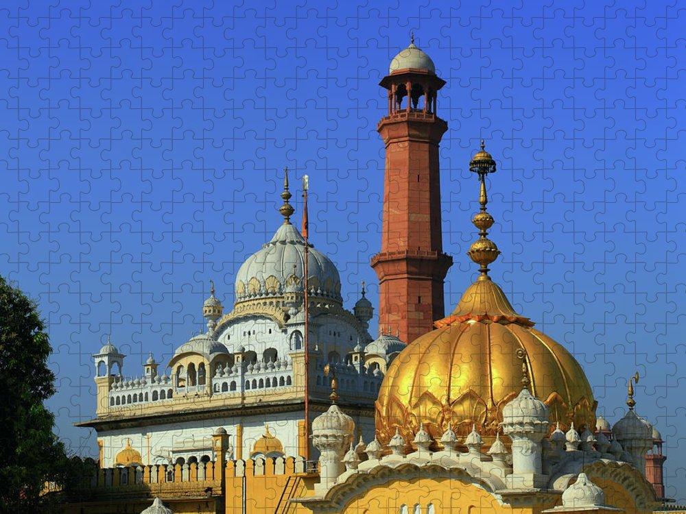 Tranquility Puzzle featuring the photograph Gurdwara Dera Sahib, Lahore. Pakistan by Nadeem Khawar