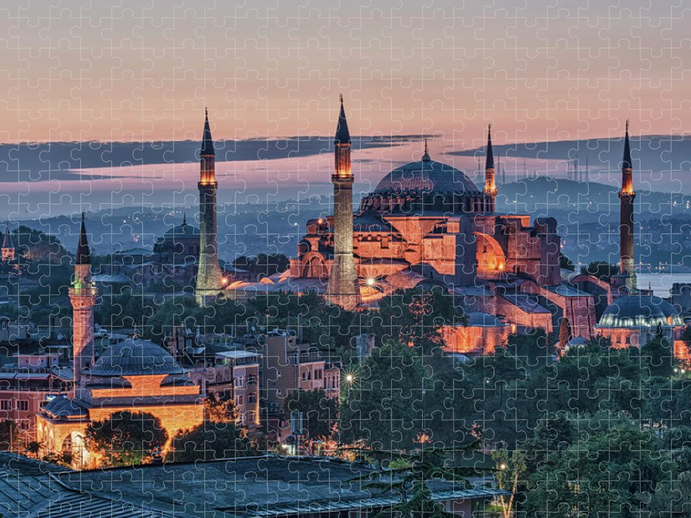 Istanbul Puzzle featuring the photograph Hagia Sophia, Istanbul by Gabrielle Therin-weise