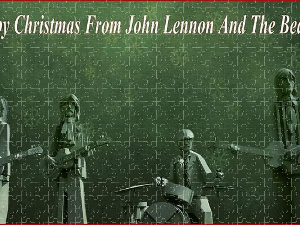 Happy Christmas From John Lennon Puzzle featuring the photograph Happy Christmas From John Lennon by Dan Sproul