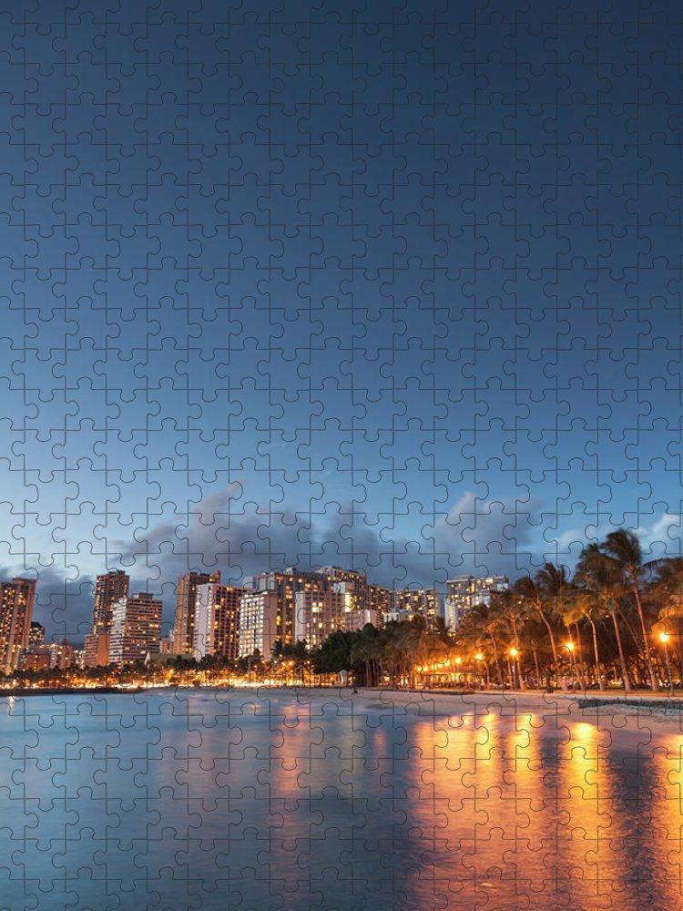 Honolulu Puzzle featuring the photograph Hawaii, Oahu, Honolulu by Michele Falzone