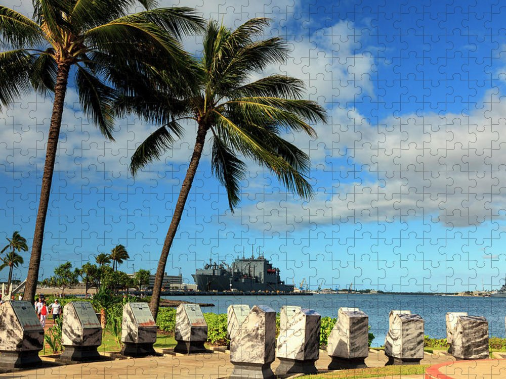 Tranquility Puzzle featuring the photograph Hawaii, Oahu, Pearl Harbour by Michele Falzone
