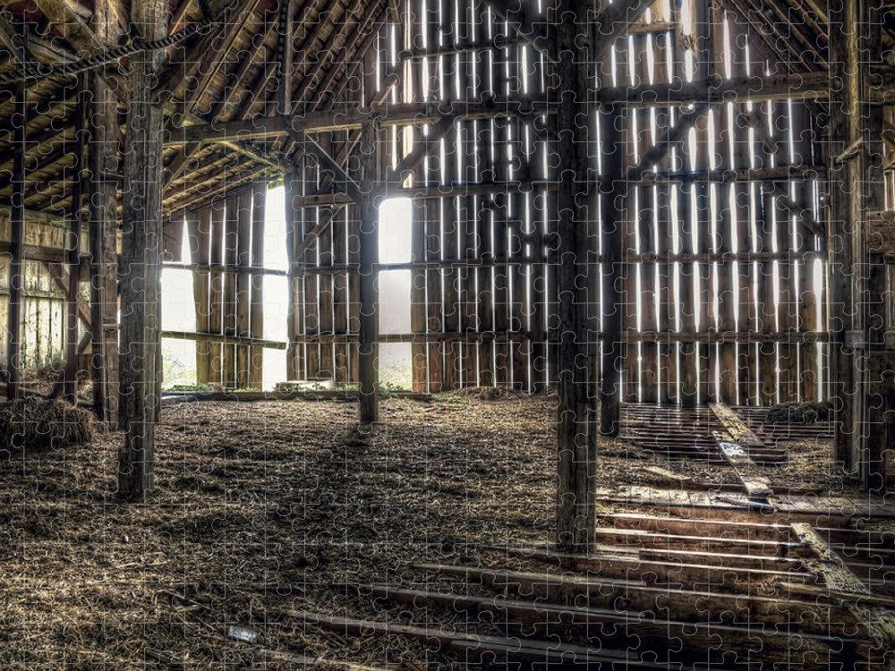 Barn Puzzle featuring the photograph Hay Loft 2 by Scott Norris