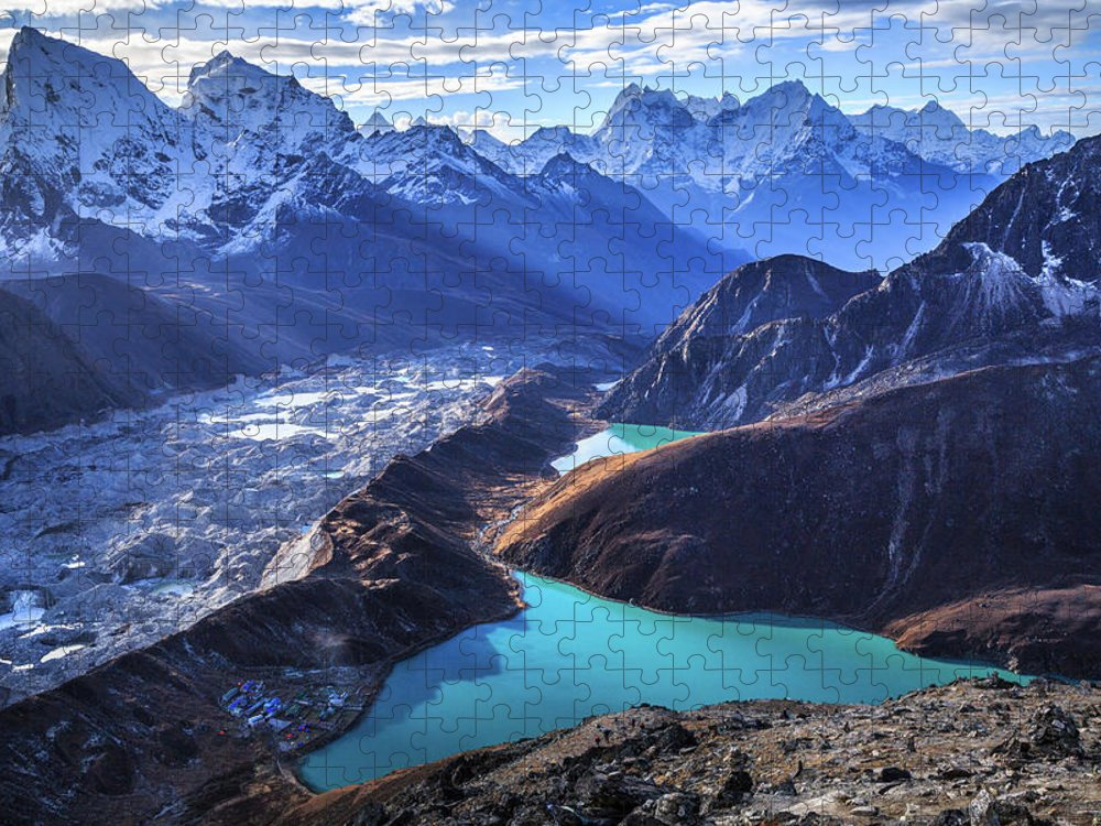 Tranquility Puzzle featuring the photograph Himalaya Landscape, Gokyo Ri by Feng Wei Photography