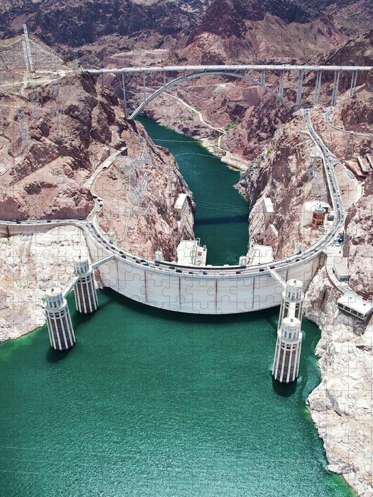 Reservoir Puzzle featuring the photograph Hoover Dam. Arizona Nevada by Jennifer sharp