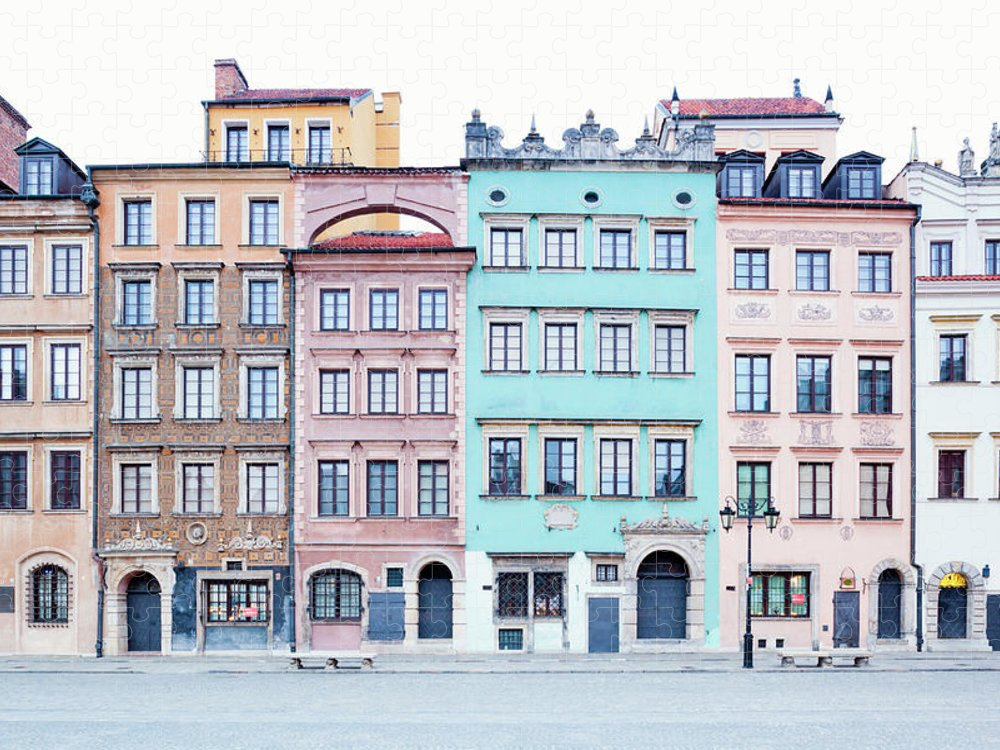 Apartment Puzzle featuring the photograph Houses On Old Town Market Place by Jorg Greuel