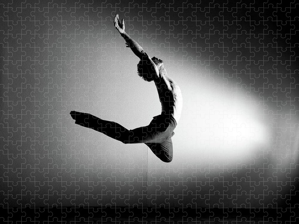 Ballet Dancer Puzzle featuring the photograph Human Flight by Amygdala imagery