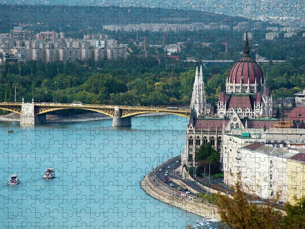 Arch Puzzle featuring the photograph Hungarian Parliament Building by Paul Biris