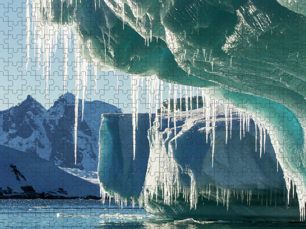 Water's Edge Puzzle featuring the photograph Iceberg, Lemaire Channel, Antarctica by Paul Souders