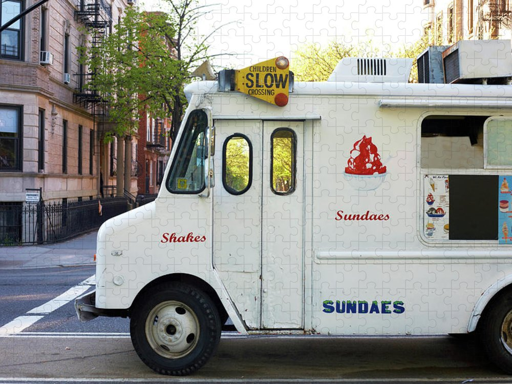 Retail Puzzle featuring the photograph Icecream Truck On City Street by Jason Todd