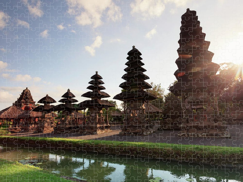 Shadow Puzzle featuring the photograph Indonesia, Bali, Taman Ayun Temple by Michele Falzone