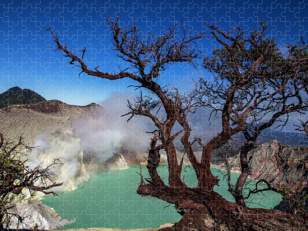 Crater Lake Puzzle featuring the photograph Indonesia, Java, Kawah Ijen by Andreas Kunz