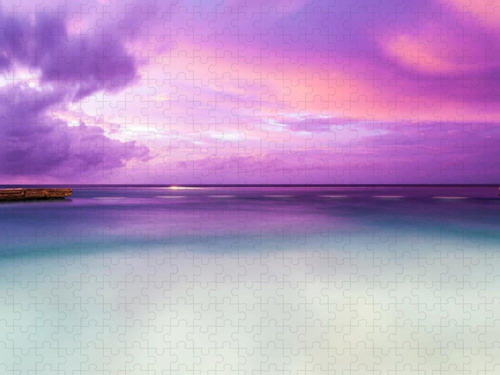 Scenics Puzzle featuring the photograph Infinity Pool, Uluwatu, Bali by John Harper