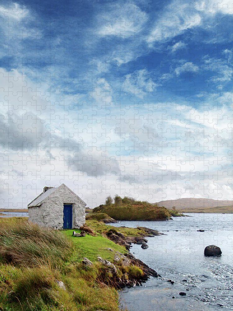 Water's Edge Puzzle featuring the photograph Irish Landscape In Connemara by Narvikk