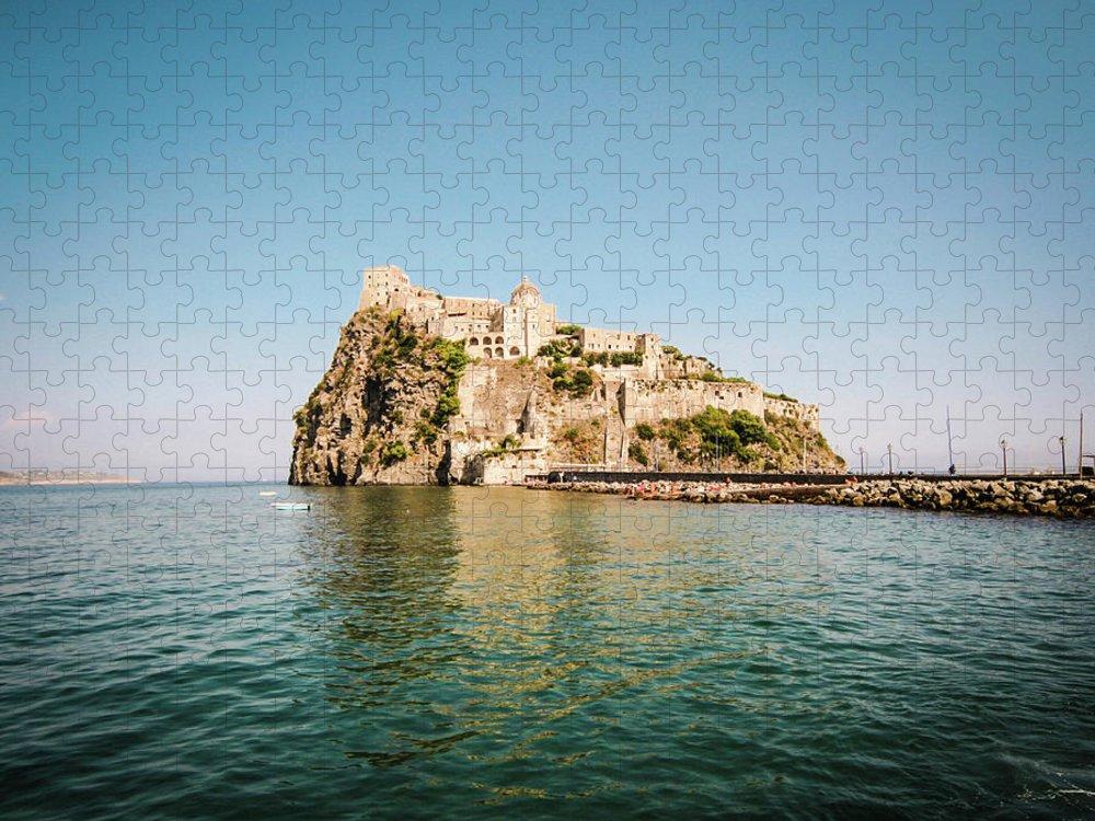 Tyrrhenian Sea Puzzle featuring the photograph Ischia Island Castle by Angelafoto