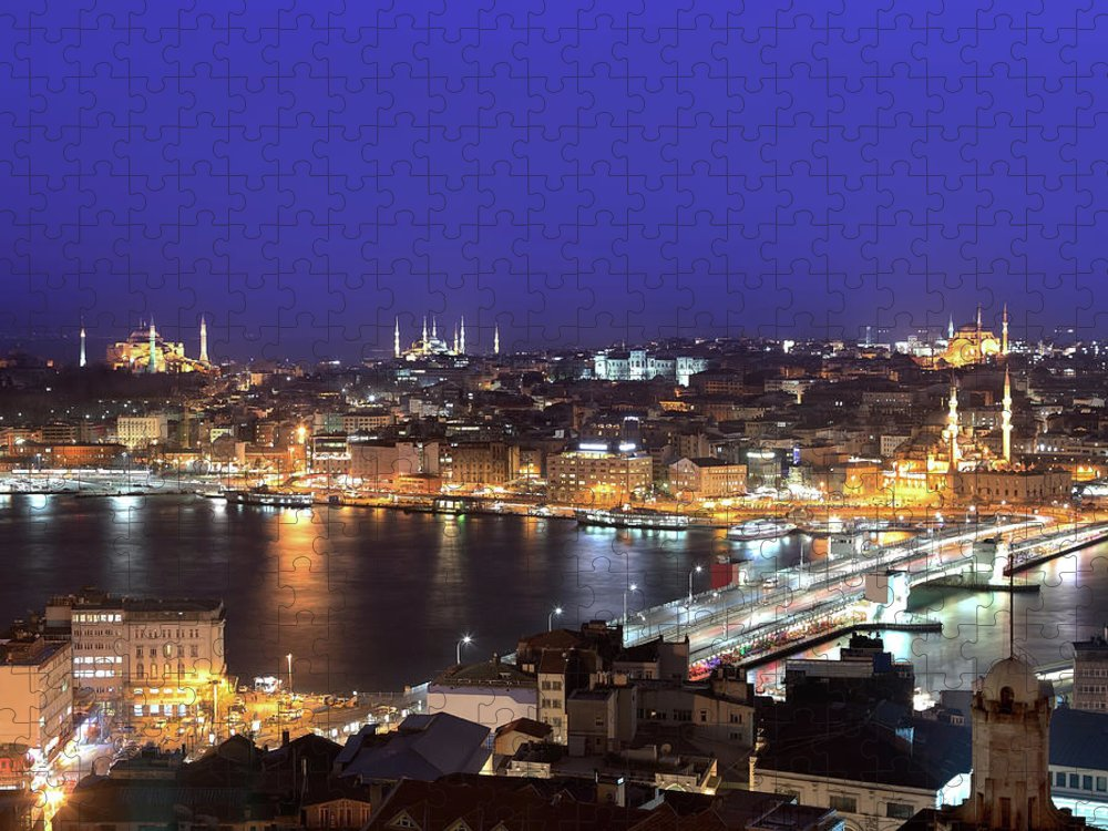 Istanbul Puzzle featuring the photograph Istanbul by Tolga Tezcan