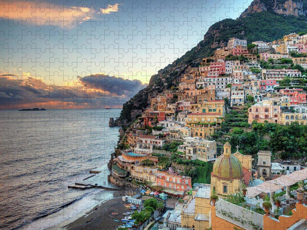 Amalfi Coast Puzzle featuring the photograph Italy, Amalfi Coast, Positano by Michele Falzone