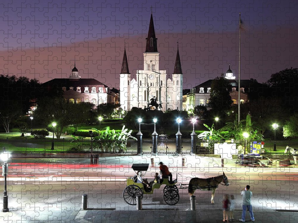 Southern Usa Puzzle featuring the photograph Jackson Square by Denistangneyjr