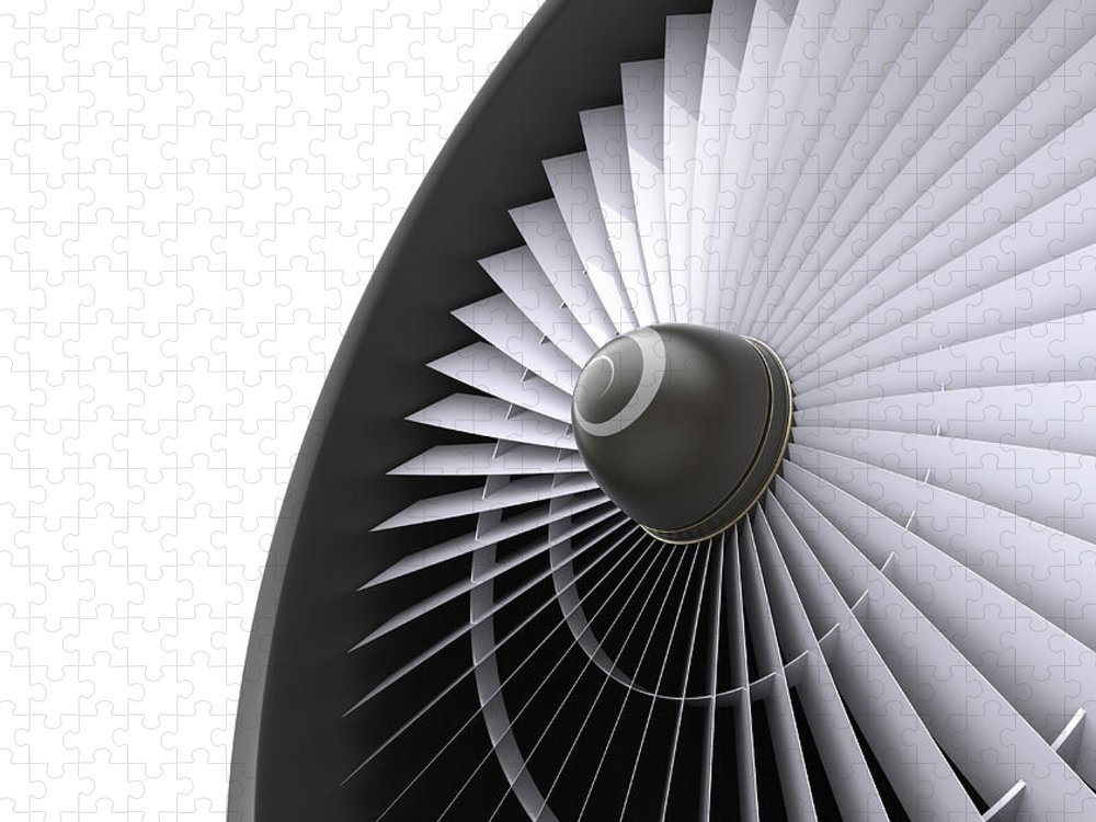 Engine Puzzle featuring the photograph Jet Turbine by Klenger