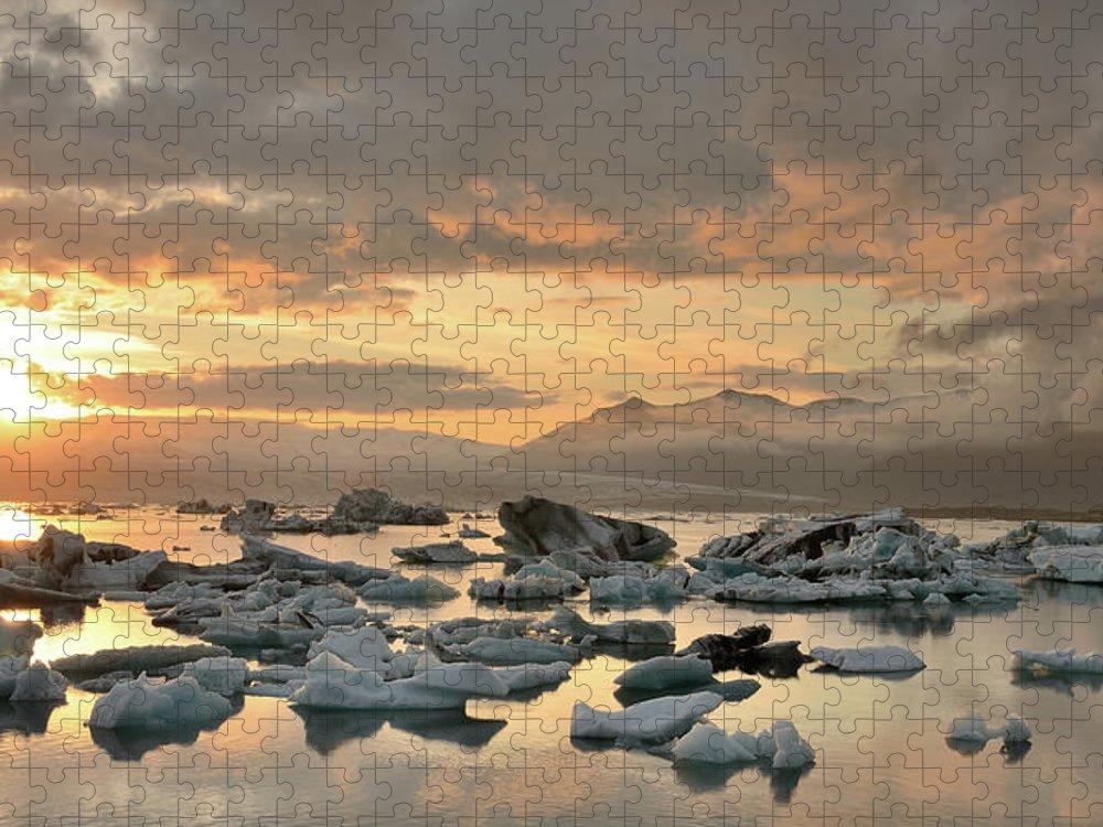 Scenics Puzzle featuring the photograph Jökulsárlón by Andreas Jones