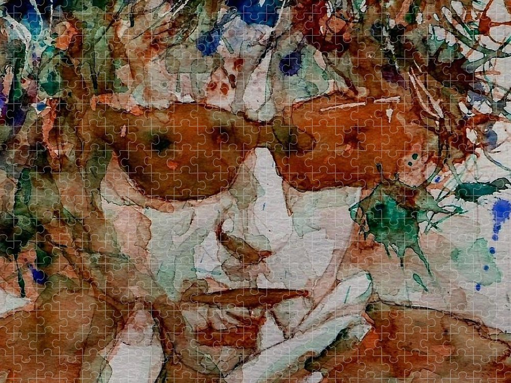 Bob Dylan Puzzle featuring the painting Just Like A Woman by Paul Lovering