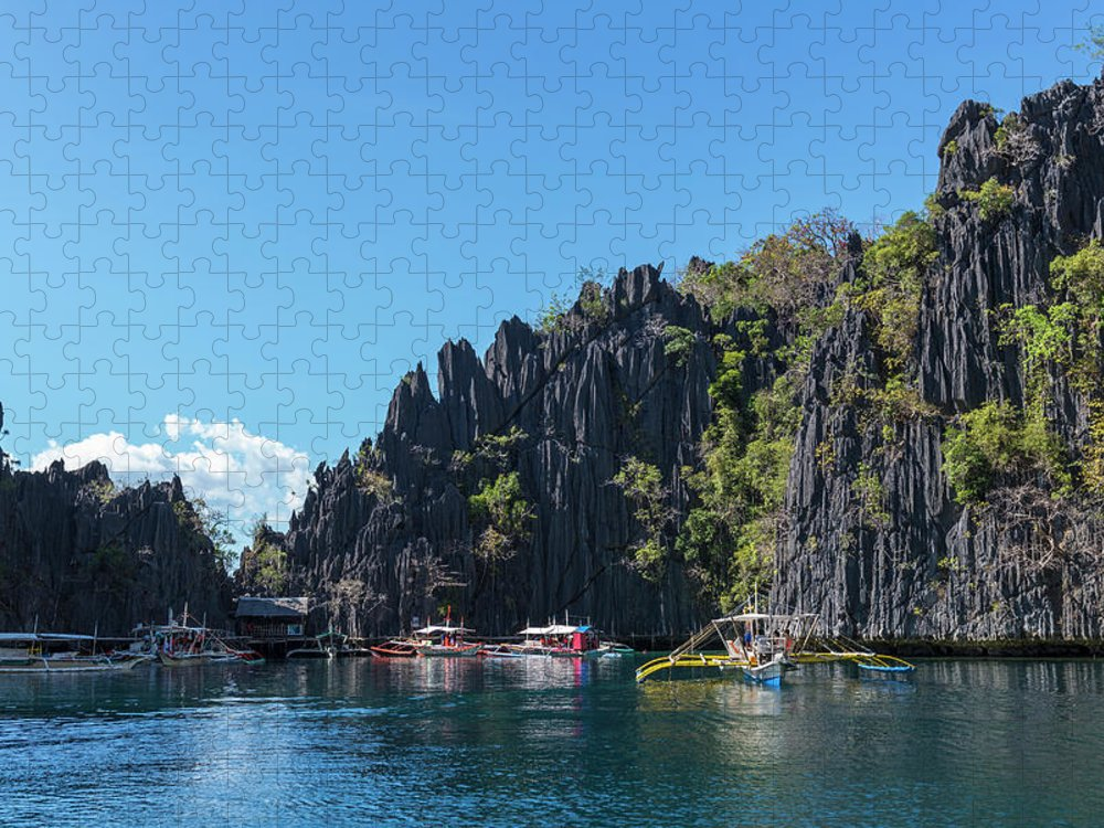 Outdoors Puzzle featuring the photograph Lagoon, Coron, Palawan, Phillippines by John Harper