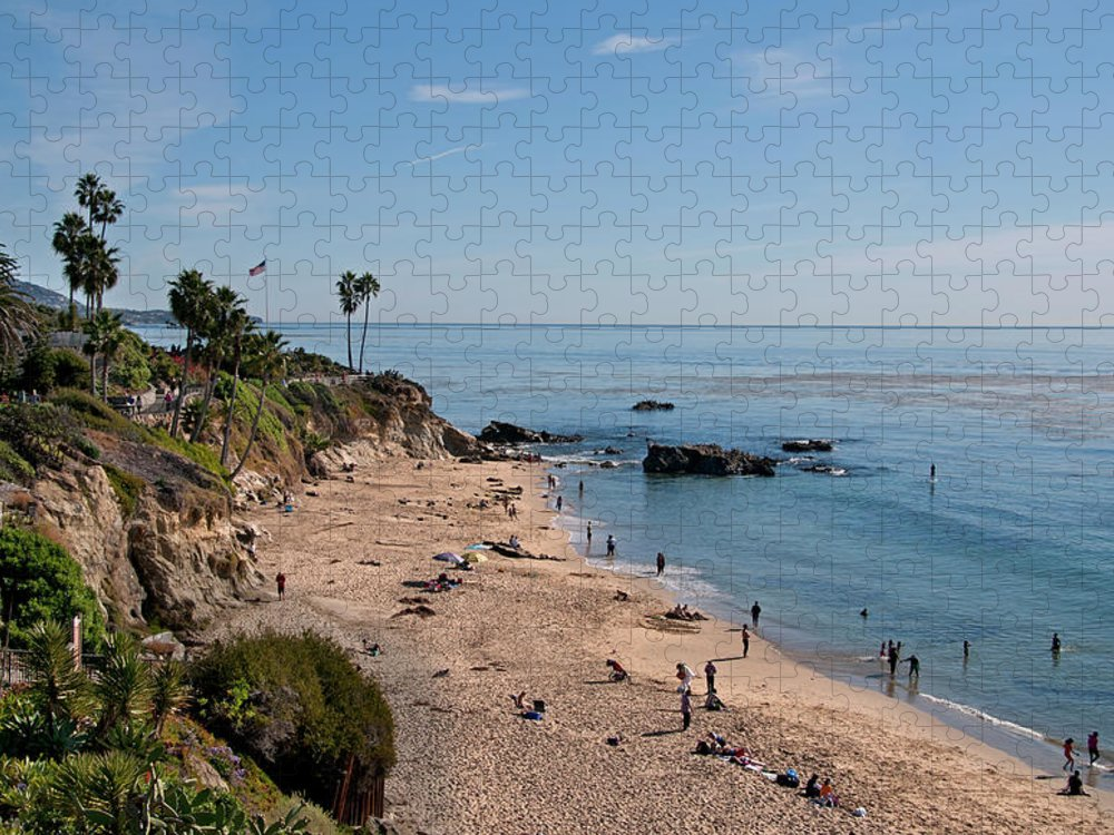 Tranquility Puzzle featuring the photograph Laguna Beach Cove by Mitch Diamond