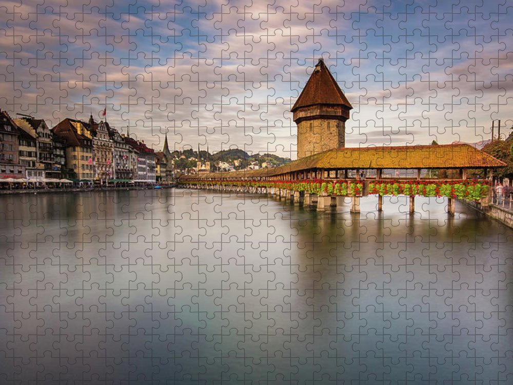 Tranquility Puzzle featuring the photograph Lake Lucerne, Switzerland by Glenn Driver
