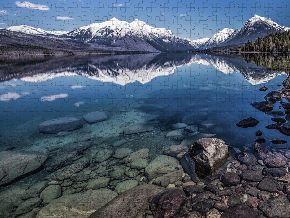 Scenics Puzzle featuring the photograph Lake Mcdonald, Montana by Aaron Aldrich Fine Art
