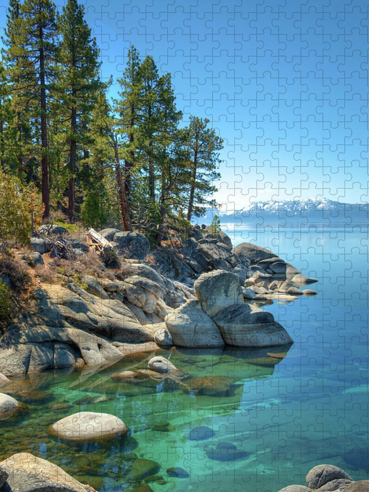 Scenics Puzzle featuring the photograph Lake Tahoe, The Rugged North Shore by Ed Freeman