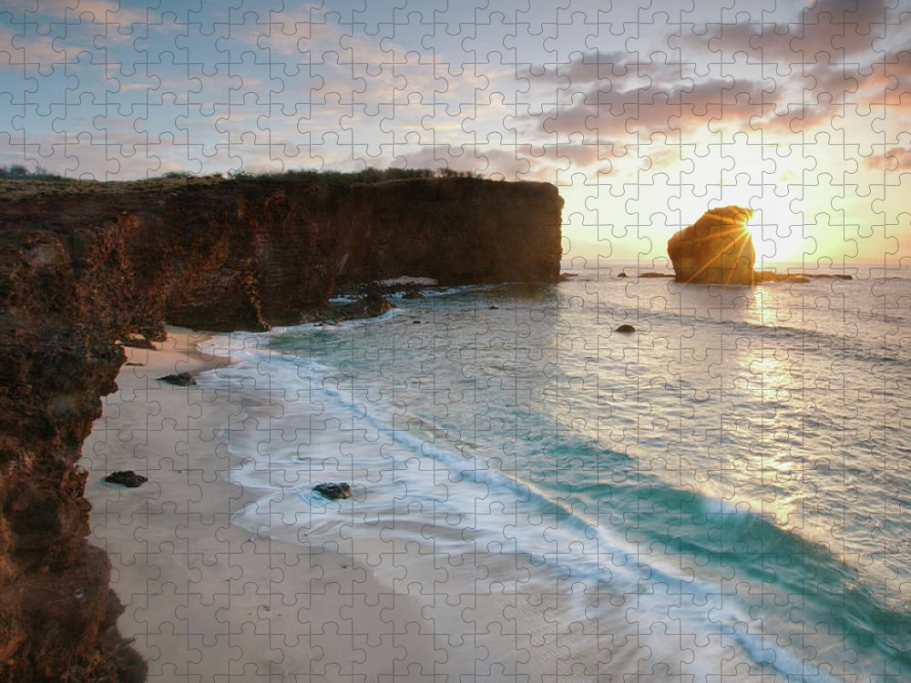 Scenics Puzzle featuring the photograph Lanai Sunset Resort Beach by M Swiet Productions