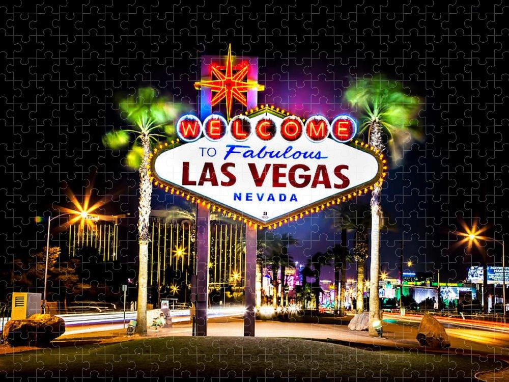 Las Vegas Puzzle featuring the photograph Las Vegas Sign by Az Jackson