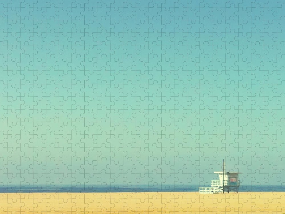 Tranquility Puzzle featuring the photograph Life Guard Tower by Denise Taylor