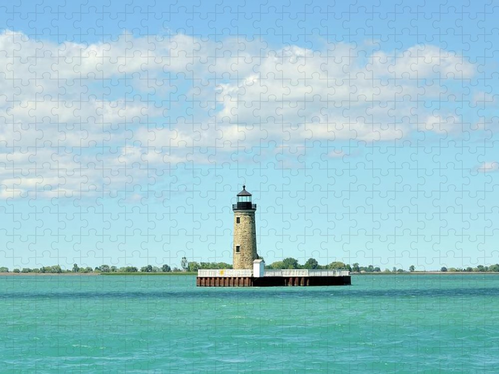 Scenics Puzzle featuring the photograph Lighthouse Lake St. Clair by Rivernorthphotography