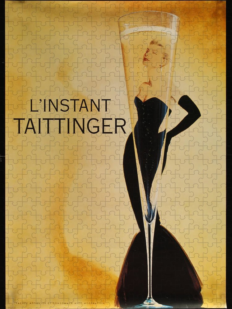 L'instant Taittanger Puzzle featuring the digital art L'Instant Taittinger by Georgia Fowler