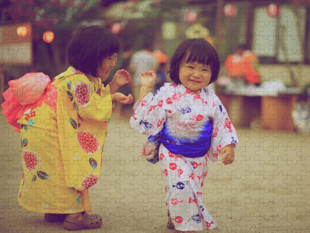 Tottori Prefecture Puzzle featuring the photograph Little Girls At A Festival by Marvin Fox