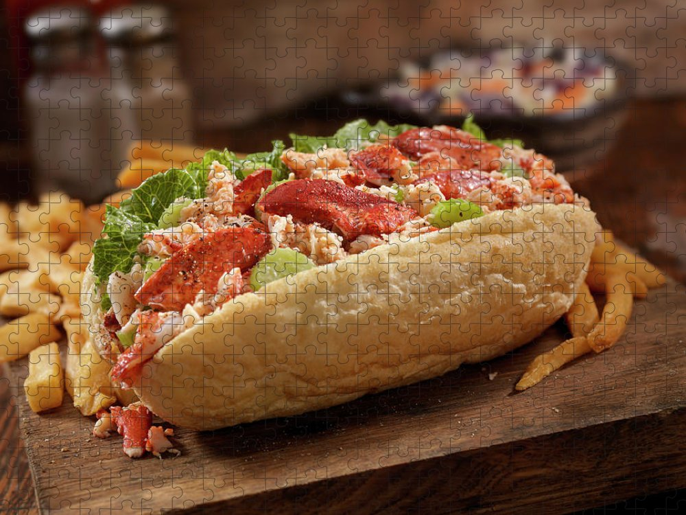 Submarine Sandwich Puzzle featuring the photograph Lobster Roll by Lauripatterson