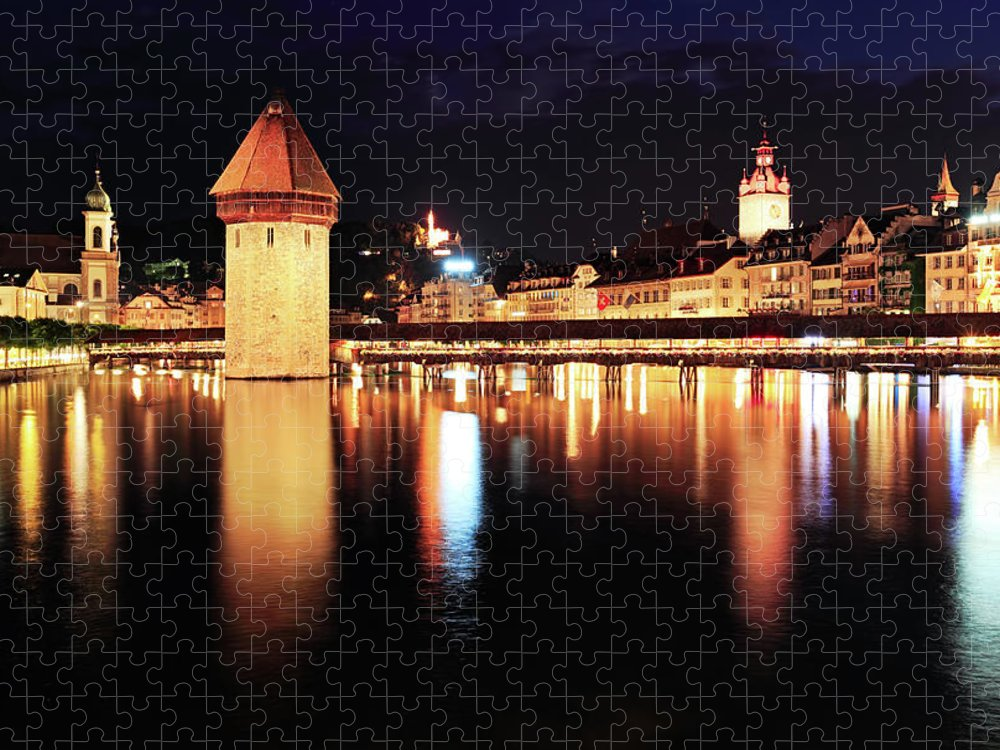 Standing Water Puzzle featuring the photograph Lucerne, Switzerland by Rusm