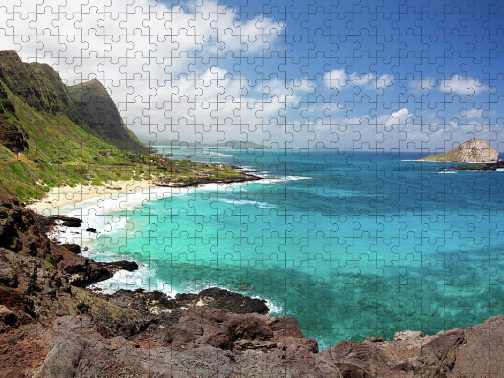 Scenics Puzzle featuring the photograph Makapuu Beach At Oahu by M Swiet Productions