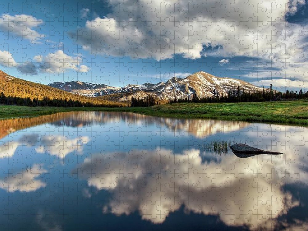Scenics Puzzle featuring the photograph Mammoth Peak Reflection by Tom Grubbe