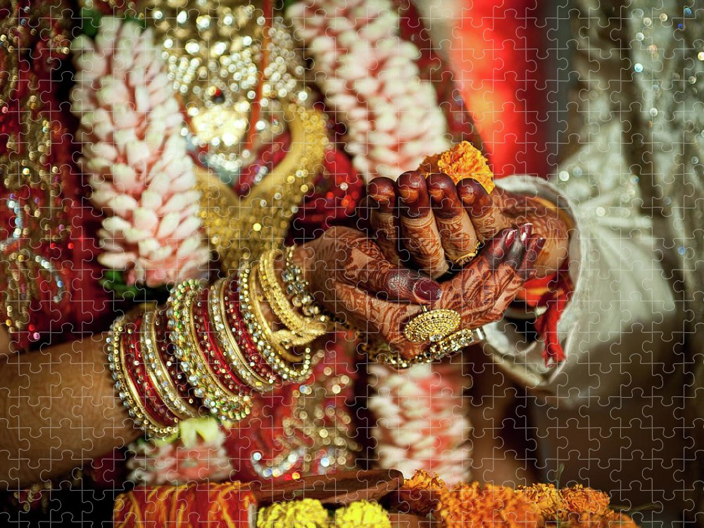 Bridegroom Puzzle featuring the photograph Marwari Indian Wedding by All Right Reserved. Jonak Photography