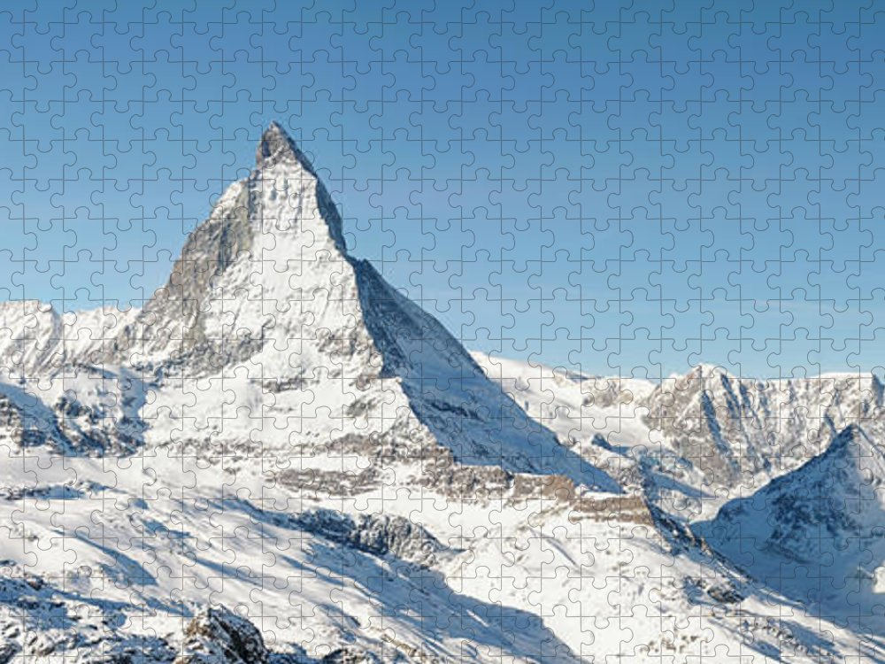 Scenics Puzzle featuring the photograph Matterhorn Panorama by Georgeclerk