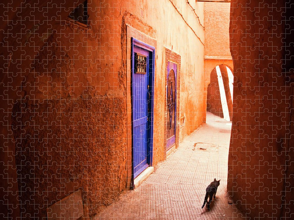 Arch Puzzle featuring the photograph Medina Of Marrakesh by Moreiso