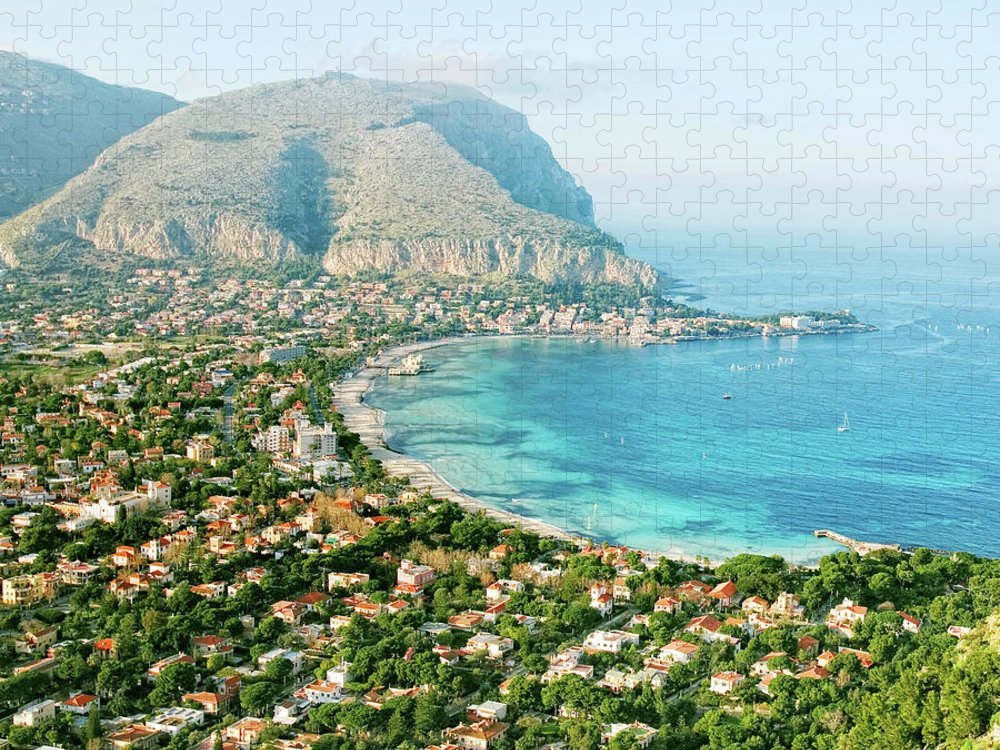 Sicily Puzzle featuring the photograph Mediterranean View by Peeterv
