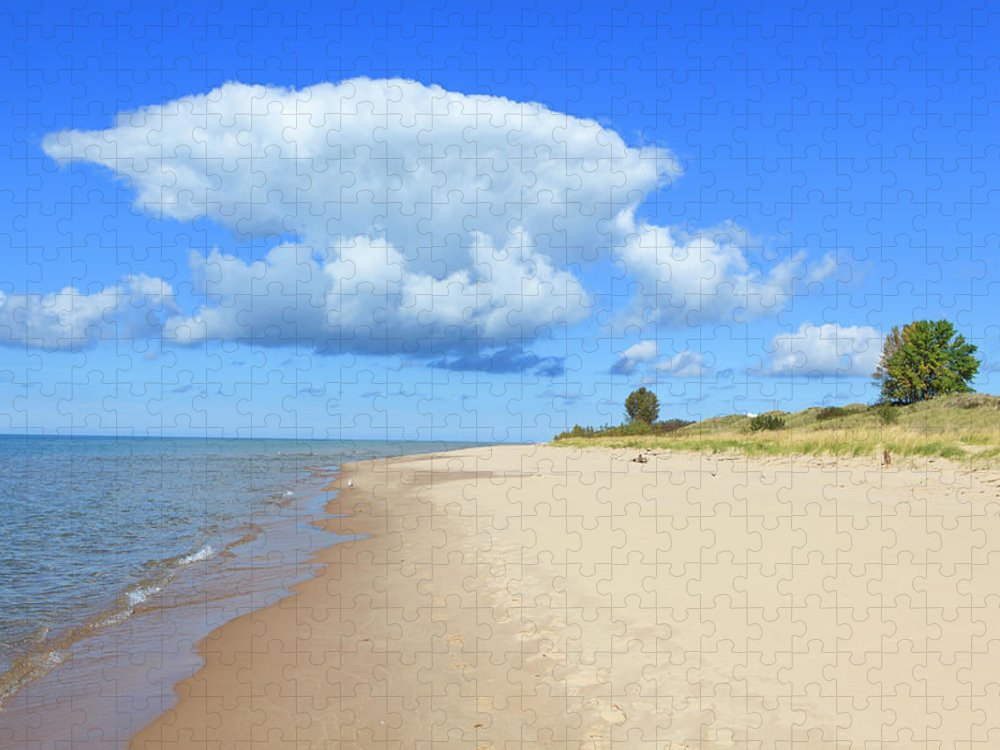 Lake Michigan Puzzle featuring the photograph Michigan Lake Shore by Espiegle